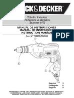 Manual furadeira Black & Decker