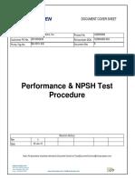 Pkg 14 BA-3301 a-B Performance & NPSH Test