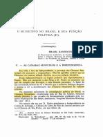 O MUNICÍPIO NO BRASIL E SUA FUNÇÃO POLÍTICA (II)