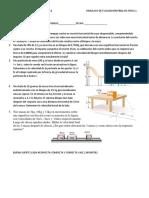 Simulacro de Evaluacion Final Fisica Uno Noviembre Del 2019