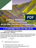 11C. Cuencas. Parametros de Relieve 3.Pps