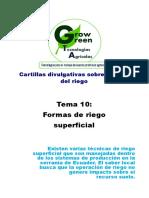 10. Manejo Del Agua en La Parcela (Formas de Riego Superficial)