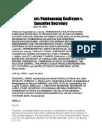 Petitioner Organizations vs Executive Secretary