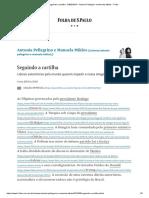 Seguindo a Cartilha - 04-03-2019 - Antonia Pellegrino e Manoela Miklos - Folha
