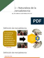 Tema 1 – Naturaleza de La Mercadotecnia