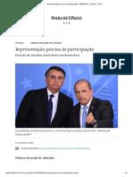 Representação Precisa de Participação - 09-05-2019 - Opinião - Folha