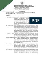 Fichamento CUNHA, Luiz Antonio. O Ensino Industrial-manufatureiro No Brasil