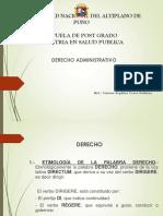Diapositivas Derechoadmistrativo Maestria Salud Publica 18 Octubre