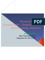 Ppt on Personal Selling by Milan p Prusty