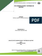 Base de Datos Generalidades y Sistemas de Gestion
