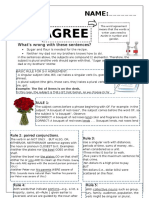 Worksheet to Practice Subject-Verb Agreement