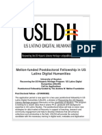 LRL Mellon-funded Postdoctoral Fellowship in US Latino Digital Humanities