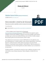 Para Entender a Miséria Da Venezuela - 01-05-2019 - Vinicius Torres Freire - Folha