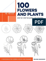Draw Like an Artist 100 Flowers and Plants - Melissa Washburn