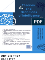 Theory and Definition of Intelligence