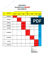 Jadwal Mengajar Raisa_nopember 2019