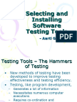 Chap 5 Selecting and Installing Software Testing Tools