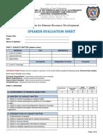 DHRD Speaker Evaluation Sheet 2019