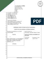 2019.09.11 California Ex Rel Rapier v Prime Healthcare Services Et Al Final Statement of Decision