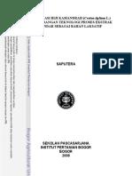 Karakterisasi Biji Kamandrah (Croton Tiglium l.) Dan Pengembangan Teknologi Proses Ekstrak Terstandar Sebagai Bahan Laksatif Saputera