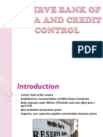 Reserve Bank of India and Credit Control
