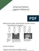 Failure in material