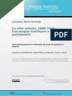 La Elite Salteña 1880-1916
