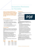 Folleto Informativo Hipoteca Variable Bankinter
