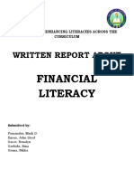 Written Report in Building and Enhancing Literacies Across the Curriculum