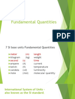 Fundamental Quantities