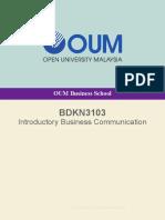 Modul BDKN3103