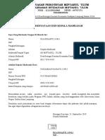 Surat Pernyataan Izin Kepala Madrasah