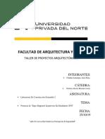 Facultad de Arquitectura y Diseño Informe Briones