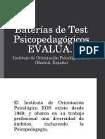 Baterías de Test Psicopedagógicos EVALÚA