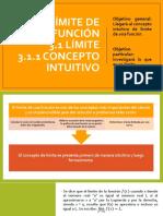 3.1 Límite, Concepto Intuitivo