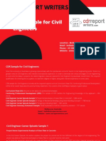 Cdr Sample for Civil Engineers