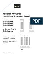 Optelecom 9000 Series Installation and Operation Manual