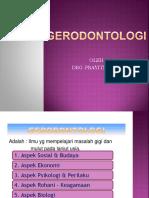 GERODONTOLOGI