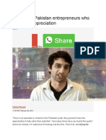 10 Young Pakistan Entrepreneurs Who Deserve Appreciation
