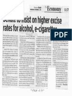 Business World, Nov. 6, 2019, Senate to insist on higer excise rates for alcohol, e-cigarettes.pdf