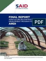 Agriculture Ardi Finalreport