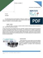 Carta de Presentacion 2019