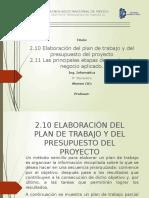 Administracion de proyectos 2.10 y 2.11 tecnm