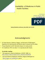 Increasing Public Availability of Medicines
