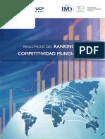 Resultados Del Ranking de Competitividad Mundial 2019