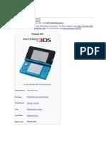 Nintendo 3DS line info