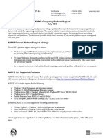 ANSYS Platform Support Stategy and Plans July 2015