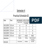 Semester 4 - Schedule 2