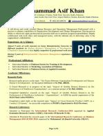 Muhammad Asif Khan-Career Profile-Faculty