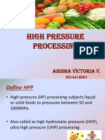 High pressure processing power point presentations
